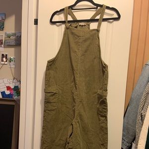Green corduroy jumpsuit